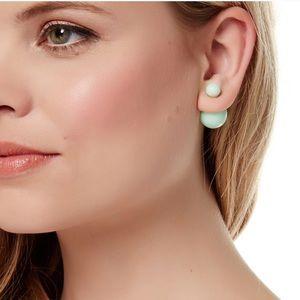 T&J Designs Mint Studded Pearl Earrings